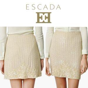 Escada Ivory Rock skirt